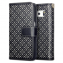 TerrapinFloral Etch Plånboksfodral till Samsung Galaxy Note 5 - Svart