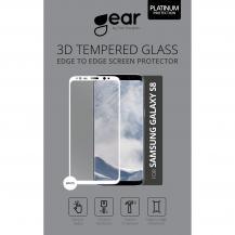 GEARGEAR Härdat Glas 3D Full Cover Samsung S8 - Vit