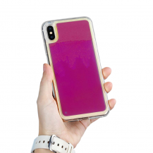 A-One BrandLiquid Neon Sand skal till iPhone Xs Max - Violet