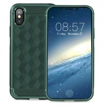 IVSOIVSO Geometric Hexagon Skal till iPhone XS / X - Grön