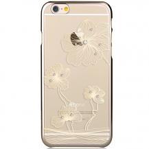 CommaComma BaksideSkal till Apple iPhone 6 / 6S - Guld Blommor