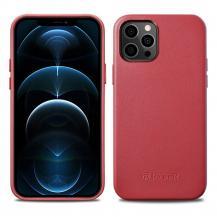 ICARERiCarer Äkta Läder Magsafe Skal iPhone 12 Pro Max - Röd