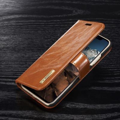DG.MING Detachable Plånboksfodral till iPhone XS / X - Brun