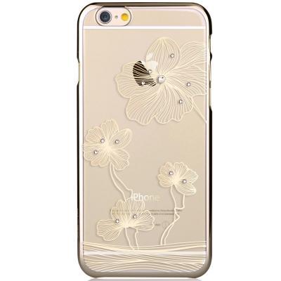 Comma BaksideSkal till Apple iPhone 6 / 6S - Guld Blommor