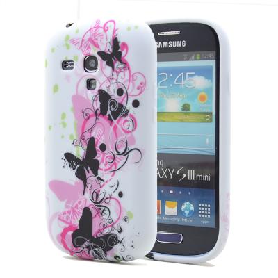 FlexiCase Skal till Samsung Galaxy S3 Mini i8190 - (Three Butterfly)