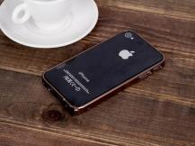 Love MeiLOVE MEI 0,7mm Thin Aluminum Metal Bumper till Apple iPhone 4S/4 (Brun)