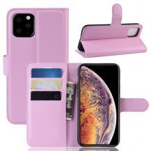 A-One BrandLitchi Plånboksfodral till iPhone 11 Pro - Rosa