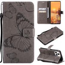 OEMFjärilar Plånboksfodral iPhone 13 Pro Max - Grå