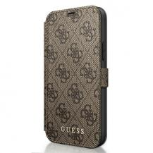 GuessGuess Plånboksfodral iPhone 12 Mini Charms Collection - Brun