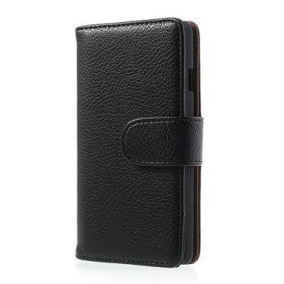 Embossed Plånboksfodral till LG Optimus L9 II (Svart)