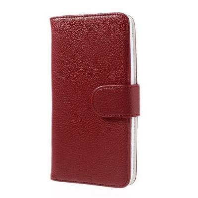 Embossed Plånboksväska till LG G Flex (Röd)