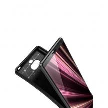 A-One BrandKolfiberskal Drop-Resistant till Sony Xperia 10 Plus - Svart