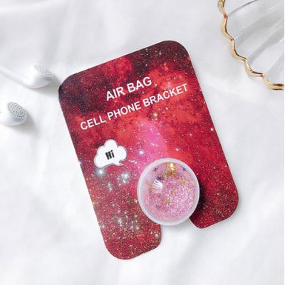 Liquid Glitter Ringhållare till Mobiltelefon - Rosa