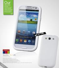 SeepooSeepoo Silikonskal till Samsung Galaxy S3 i9300 + Skärmskydd (Vit)