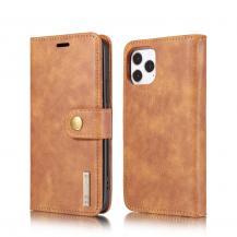 DG.MING Detachable Äkta Läder Plånboksfodral iPhone 12 Pro Max - Brun