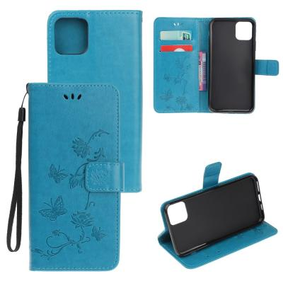 Butterfly Plånboksfodral till iPhone 11 - Blå
