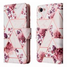 A-One BrandMarble Grid Plånboksfodral iPhone 7/8/SE 2020 - Rosor