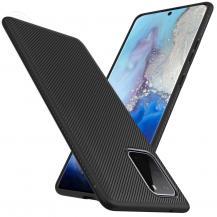 A-One BrandTwill Texture Flexicase Skal till Samsung Galaxy S20 - Svart