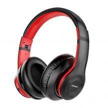 AusdomAusdom ANC Over-Ear Bluetooth Trådlös Hörlurar - Svart / Röd