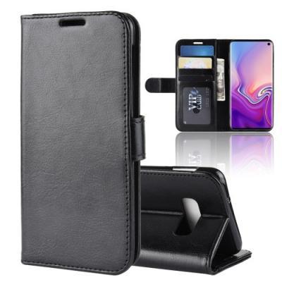 Crazy Horse Plånboksfodral till Samsung Galaxy S10e - Svart
