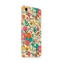 Skal till Apple iPhone 7/8 - Retro Blommor - Beige