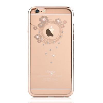 Devia Skal med Swarovski-Stenar till Apple iPhone 6(S) Plus - Garland Guld