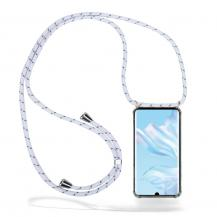 CoveredGear-NecklaceCoveredGear Necklace Case Huawei P30 Pro - White Stripes Cord