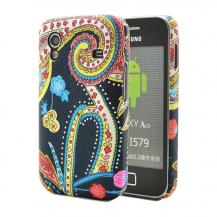 OEMBaksidesskal till Samsung Galaxy Ace - Svartmönstrad