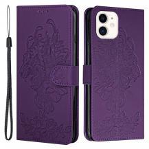 A-One BrandTiger Flower Plånboksfodral till iPhone 12 Mini - Lila