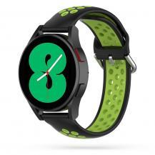 Tech-ProtectSoftband Samsung Galaxy Watch 4 40/42/44/46 mm - Svart/Lime