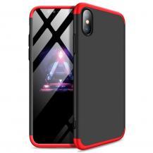 GKKGKK 360 Protection Fram bak skal iPhone XS Max Svart-Röd