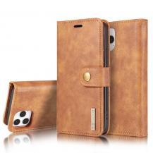 DG.MINGDG.MING Äkta Läder Plånboksfodral iPhone 13 Mini - Brun