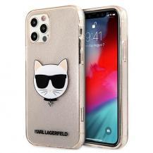 KARL LAGERFELDKarl Lagerfeld Skal iPhone 12 Pro Max Glitter Choupette - Guld