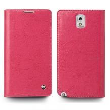 QIALINOQialino Äkta Läder Plånboksfodral till Samsung Galaxy Note 3 N9000 (Magenta)