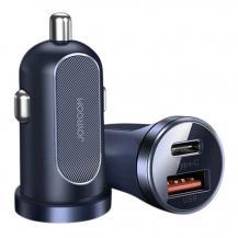 JoyroomJoyroom mini dual port USB Type C/USB 30 W 5 A car charger 3.0 B
