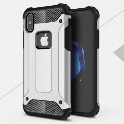 Hybrid Armor Mobilskal till Apple iPhone XS / X - Silver