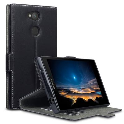 Slimmat Plånboksfodral till Sony Xpeira L2 - Svart