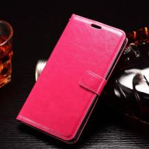 A-One BrandCrazy Horse Plånboksfodral till LG G4 Stylus - Magenta
