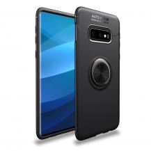 A-One BrandSkal med Stativ för Samsung Galaxy S10e - Svart