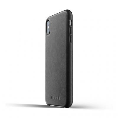 Mujjo Full Leather Case för iPhone XS Max - Oliv