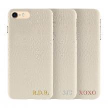 Designa själv - iPhone 8 Plus konstläder skal - VIT