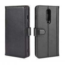 OEMÄkta Läder Plånboksfodral OnePlus 8 - Svart