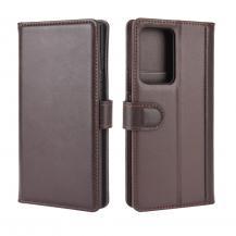 Äkta Läder Fodral Till Samsung Galaxy Note 20 Ultra - Brun
