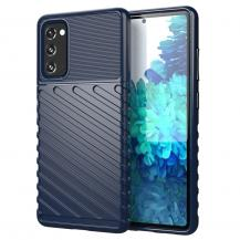 OEMThunder Twill Texture Mobilskal Samsung Galaxy S20 FE - Blå