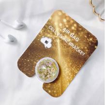 OEMLiquid Glitter Ringhållare till Mobiltelefon - Gold