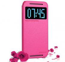 NillkinNillkin Sparkle Window View Flip fodral HTC One M8 - Magenta