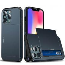 A-One BrandHybrid Skal med Kortplats till iPhone 13 Pro - Blå