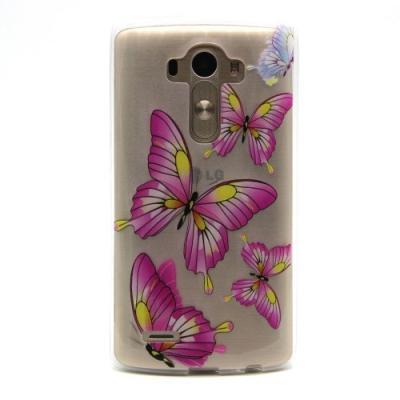 Flexicase Skal till LG G4 - Rosa Fjärilar