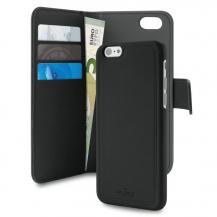 PuroPuro Plånboksfodral med magnetiskt skal till iPhone 7/8/SE 2020 - Svart