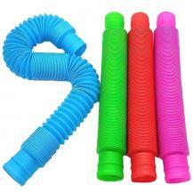 Fidget Toys4-Pack Fidget Toys - Pop tube - Sensory - Flera färger - Multicolor